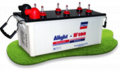 Flat plate batteries