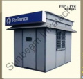 FRP and PVC Cabins  These two materials are ideal for high rainfall areas. FRP offers better strength than PVC, whereas PVC works out chepar. Normally, these cabins are modular in nature, affording easy expansion or modification at a later date