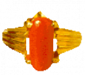 Coral Gem Stone Ring