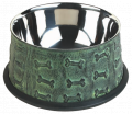 EMBOSSED GREEN FEEDING BOWL