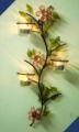 Crystal Flower & Glass Leaves Votive Holder