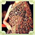 Colored Chikan Work Saree