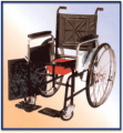 General Wheel Chair Non Folding With Commode