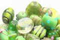 Fancy Beads Lime Mix