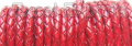 Braided Leather Cords Red
