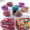 Heart Shaped Mini Trinket Box With Glitter & Beads