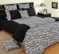 Black and White Colour Bed in a Bag Set of 4