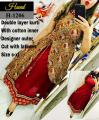Multi-color Outer Designer with latkans Maroon kurti