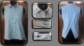 Blue & White Striped  Women Tunics