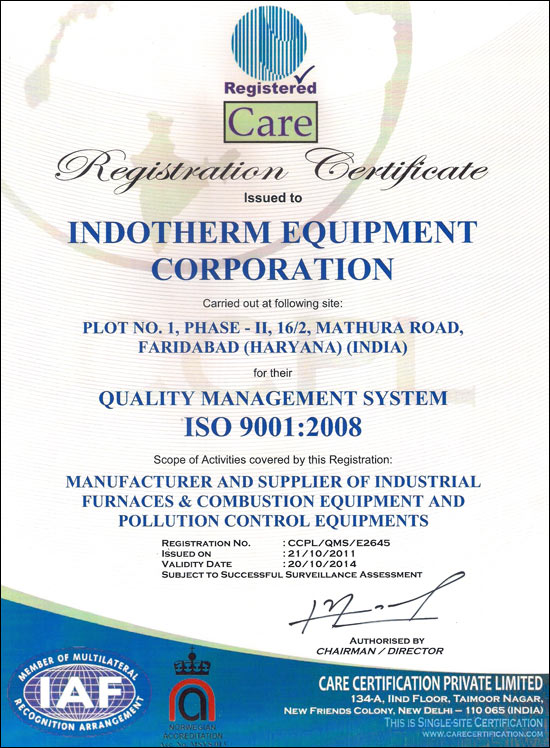 Indotherm Equipment Corporation, Company