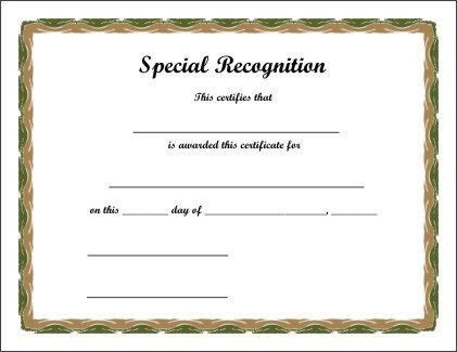 Order Certificates Printing