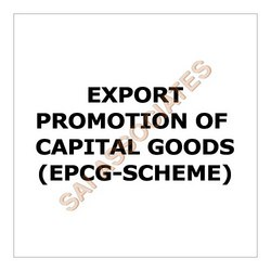 Order Export Promotion of Capital Goods (EPCG-Scheme)