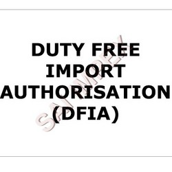 Order Duty Free Import Authorization (DFIA)