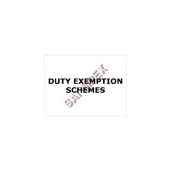 Order Duty Exemption Schemes