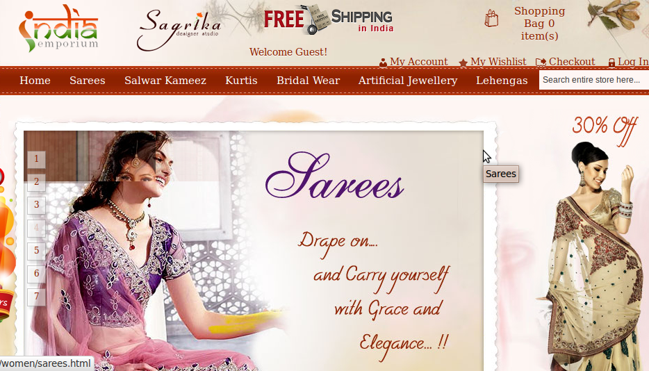 India Emporium Online shopping store