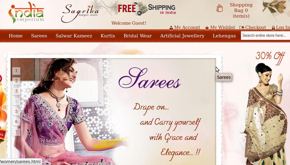 Order India Emporium Online shopping store