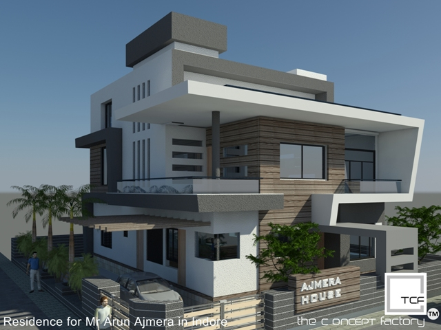 Indian contemporary house order at indore india price Designer houses in india