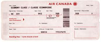Order Order of airline tickets