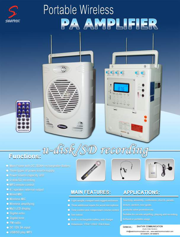 Order Portable Wireless PA Amplifier