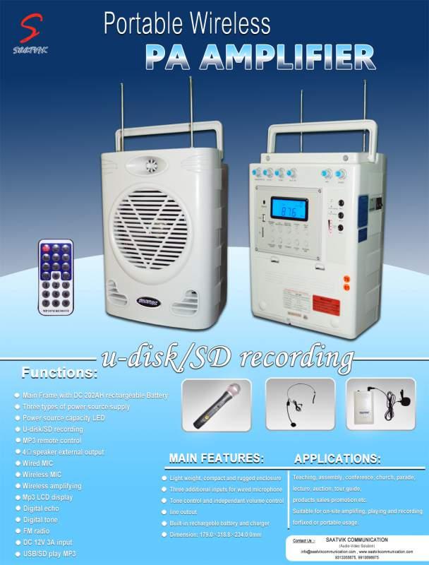 Order Portable Wireless PA Amplifier