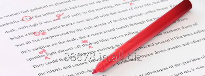 Order Copy editing and proofreading services