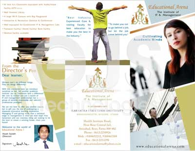 Design of advertising polygraph - leaflet designing service