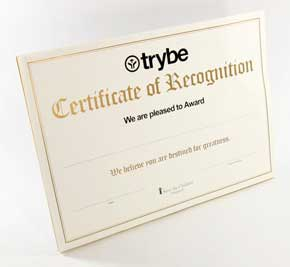Order Certificate printing service
