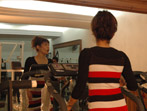 Fitness center in a hotel