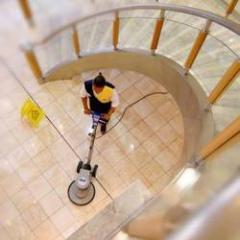 Floor scrubbing & floor polishing services