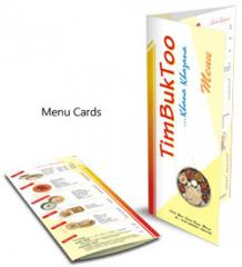 Menu Card Printing