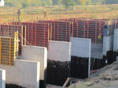 The construction of industrial sites and buildings