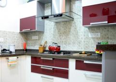Development of the design of all types of kitchen cabinets