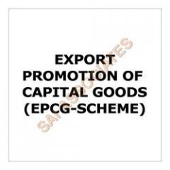 Export Promotion of Capital Goods (EPCG-Scheme)
