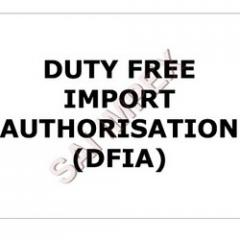 Duty Free Import Authorization (DFIA)