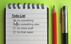 Task-Based Schedule