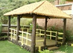 Garden Log Huts