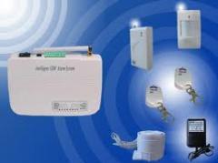 Wire/wireless Burglar Alarm System with Auto Dialer