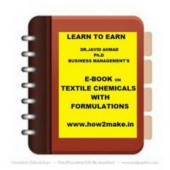 Formulations E-book On Textile Chemicals