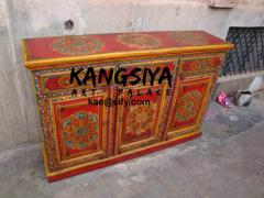 Wooden hand painted side board