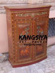Wooden hand painted furniture