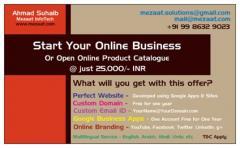 Start Online Business @ Just 500/- US$