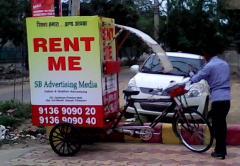 Tricycle advertising in delhi