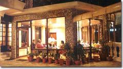 Restaurant in a hotel