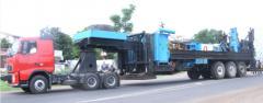Oil field equipment haulage