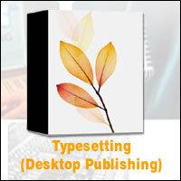 Typesetting (desktop publishing) services