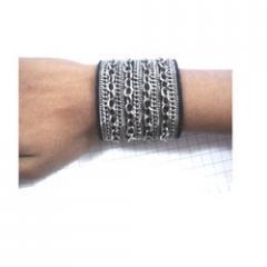 Black Beaded Cuffs