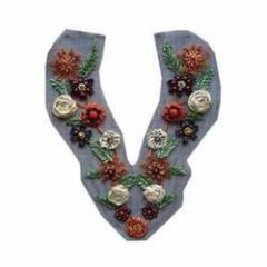 Flower Embroidered Necklines